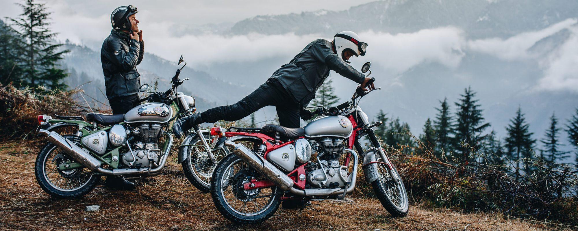 Royal Enfield motorbikes